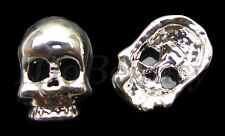 2 METAL ALLOY SKULL FACE TIP NAIL ART DECORATION  JEWELRY CHARMS FOR NAILS
