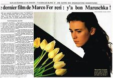 Coupure de presse Clipping 1988 (2 pages) Maruschka Detmers