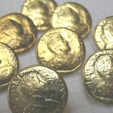10 Large Gold Roman Emperor Coin Buttons