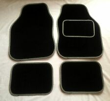Black & Grey Car Mats For Vw Beetle Bora Fox Golf R32 Polo Up Scirocco