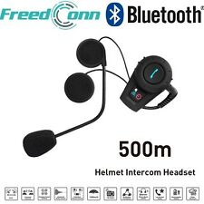 1PC 500M Motorcycle Helmet BT Bluetooth Interphone Intercom Headset Kit FM Radio