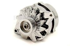1965-89 Chrome Ford 6 Groove Sepentine 100 AMP Alternator - 3 wire