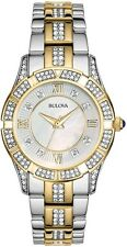 Bulova Women's Two Tone Crystal MOP Dial Watch 98L135