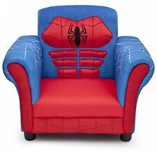 Boys Spider Man Chair Children Chairs Seats Bedroom Playroom Furniture Blue Red
