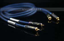 NEW SQ-88B 1M HIFI Silver Plating RCA Plug interconnect audio cable For AMP DAC