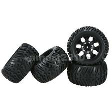 4Pcs Wheel Rim and Tire for 1/10 HSP Tamiya Kyosho Remote Control RC Car Toy