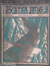 Fortune Magazine  December 1931  *Ernest Hamlin Baker Cover*  GREAT ADS