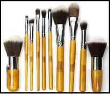 10 Pcs Professional soft bamboo make up brush brushes set foundation eye face UK
