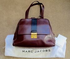 Marc Jacobs Charlie Bowler Satchel Handbag Brown Black Leather NWT