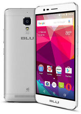 BLU Studio One Plus S0130UU Unlocked GSM Smartphone 4G LTE Silver Good Condition