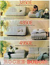 Publicité Advertising 1981 Les Meubles Mobilier Canapés Roche-Bobois
