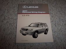 2007 Lexus LX470 LX 470 Factory Original Electrical Wiring Diagram Manual Book