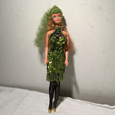 Barbie Disco Dress In Green Sequin Design By Sammy Carlo