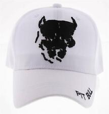 NEW! PIT BULL DOG PITBULL BALL CAP HAT WHITE