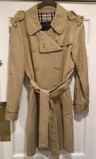 Authentic BURBERRY LONDON Women's Khaki Trench w/ UNIQUE Frayed Edges Worn ONCE