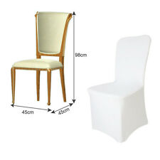 New 100pcs Universal White Polyester Spandex Wedding Chair Covers Flat Front