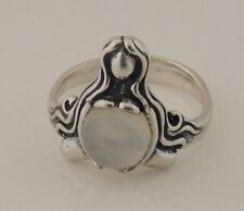 GODDESS ABUNDANCE RING 925 Sterling Silver w/ Moonstone Sz 7 MOTHER Midwife ring