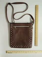 Women's LaTique Brown Satchel  Tote Bag Purse Style Ladies Rhinestone