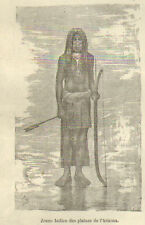 NEW-YORK JEUNE INDIEN ARIZONA YOUNG INDIAN IMAGE 1885 OLD PRINT