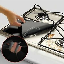 4Pcs Reusable Protector Gas Range Liner Non Stick Gas Hob Stove Top Cooker Cover