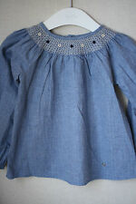 GUCCI BABY DENIM SMOCKED DRESS 24 MONTHS