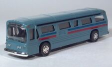 "GM GMC New Look Fishbowl Dark Blue Dog Bus 6"" Scale Model Pull Back & Go"