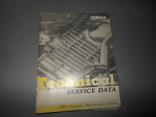 Factory OEM Yamaha 1995 Technical Service Data Motorcycle & Riva 50pgs
