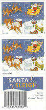 US 4715d Holiday Santa & Sleigh forever booklet 20 MNH 2012
