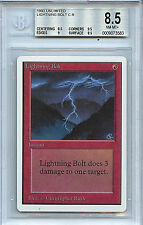 MTG Unlimited Lightning Bolt BGS 8.5 Magic the Gathering WOTC Card 3583