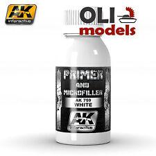 Xtreme Metal WHITE PRIMER & MICROFILLER 100ml Bottle - AK Interactive 759
