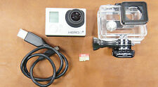 GoPro HERO 3+ Silver Action Camera With Mount and SD Card! Nice!
