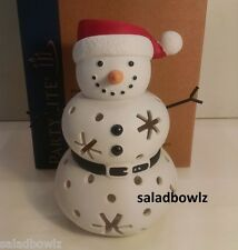 PARTYLITE New SANTA SNOW TEALIGHT HOLDER add to FAMILY P91946 Mr Mrs Jr fREEsHIP