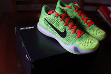 NIKE AIR KOBE X ELITE LOW iD GRINCH NEW SZ 11 US CHRISTMAS COAL HEARTED QS DS