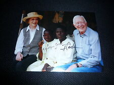 JIMMY CARTER & ROSELYN CARTER signed Original Autogramm 20x25 cm US PRÄSIDENT