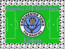 Football pitch,You Choose club,Birthday cake topper.