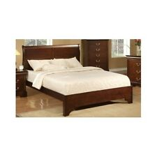 King Sleigh Bed Frame Wood Headboard Solid Elegant Furniture Classic Bedroom