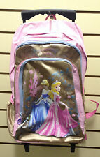 Disney Princess CINDERELLA AURORA Wheeled MEDIUM Backpack TROLLEY SCHOOL  Bag