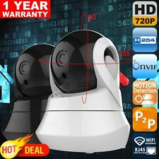 720P Wireless HD IP Camera WiFi 1.0MP H.264 P2P Pan-Tilt CCTV With SD Slot WBQ8