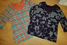2 x PER UNA M&S country check purple grey blouse top size 20 bundle