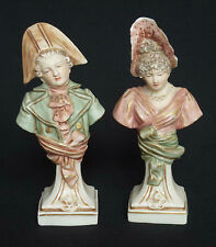 Pair of Continental Porcelain Figural Busts (Royal Dux Style / Turn Vienna?)