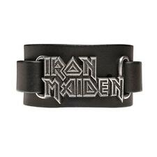 Alchemy Rocks Iron Maiden Rock Band Logo Leather Cuff Wristband Bracelet HRWL447