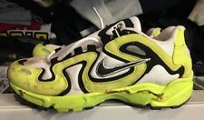 Vintage Nike Air Perseus Neon Yellow 1997 With Stains