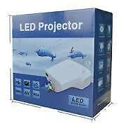 "10-100"" LED Projector for TV, DVD, PC with SD, USB, AV In, VGA, HDMI, CoaxialTV"