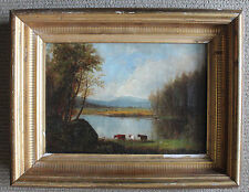 Fine Antique Framed White Mountain or Hudson River School Oil Painting