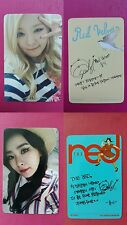 RED VELVET SEULGI 2pcs Official Photo Card Ice Cream Cake + The Red Photocard