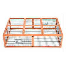 "Pawhut 68.5"" Wood Rabbit Hutch Cage Premium Plus Bunny Rabbit 3 Doors Run Cage"