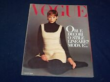 1992 OCTOBER VOGUE ITALIA MAGAZINE - LUCIE DE LA FALAISE- GREAT FASHION - O 5297