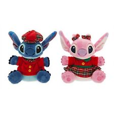 "DISNEY STORE STITCH AND ANGEL HOLIDAY PLUSH DUO 6"" MBBP SO ADORABLE! SUPER CUTE!"