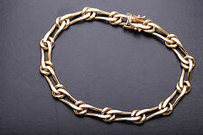 $8000 CHIAMPESAN Signed FANCY LINK 18k Yellow Gold Bracelet 37g RARE 9""