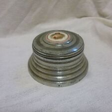 Vintage Metal Musical Round Powder Box
